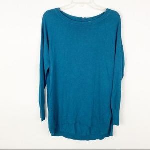 Caslon zip back high low pullover tunic